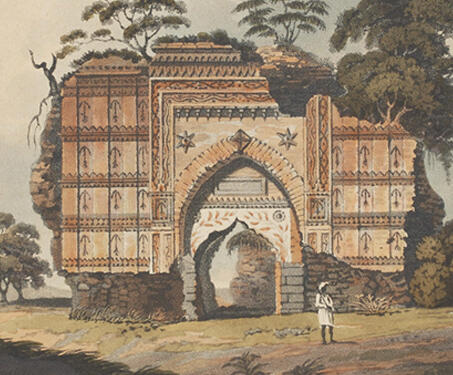 The Ruins of Gour - Bengal, Bengal Presidency, Bengal Sultanate, Gaur, Henry Creighton, Medieval Architecture, monuments