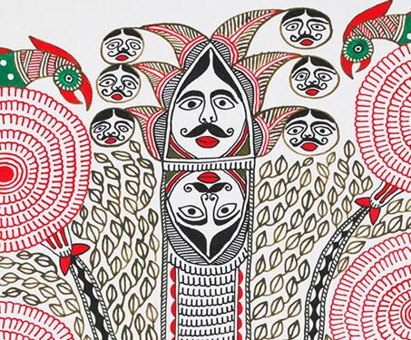 Untitled [Kohbar] - Bihar, Folk Art, indigenous art, Kohbar, Madhubani, Mithila, Puren, Ritual painting, Santosh Kumar Das