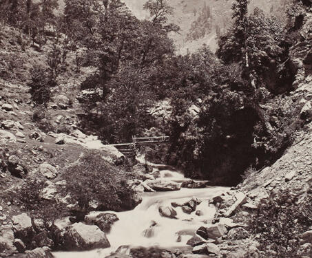 View of the Kashmir Road, near Budrawar - 19th Century Photography, British India, Himalayas, Samuel Bourne
