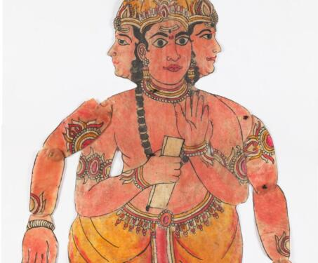 Brahma - Andhra Tradition, Brahma, Indian Mythology, Indigenous & Tribal Art, Puppetry, S Chithambara Rao, Shadow Puppets, tholu bommalaata