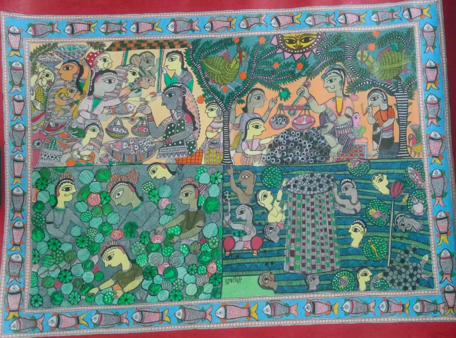 Drawing Strength – How Madhubani Artists Have Challenged Caste Oppression - Bihar, Caste, Chano Devi, Dalit, Dulari Devi, featured, Jamuna Devi, Madhubani, Malvika Raj, Mithila, Shrawan Paswan, Urmila Devi Paswan
