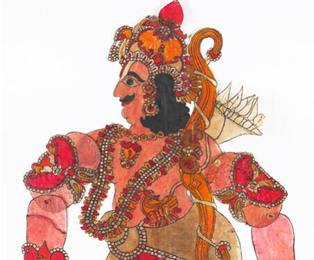Raja Harishchandra - Indian Mythology, Indigenous & Tribal Art, Ramayana, S Chithambara Rao, Shadow Puppets, tholu bommalaata