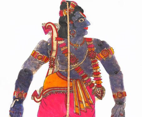 Rama - Indian Mythology, Indigenous & Tribal Art, Ramayana, S Chithambara Rao, Shadow Puppets, tholu bommalaata