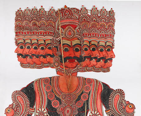 Lankadhipati Ravana - Indian Mythology, Indigenous & Tribal Art, Puppetry, Ravana, S Chithambara Rao, Shadow Puppets, tholu bommalaata