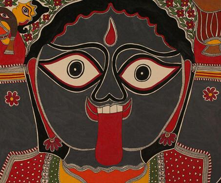 Untitled (Goddes Kali) - Baua Devi, Goddess Kali, Madhubani Art, Mithila art