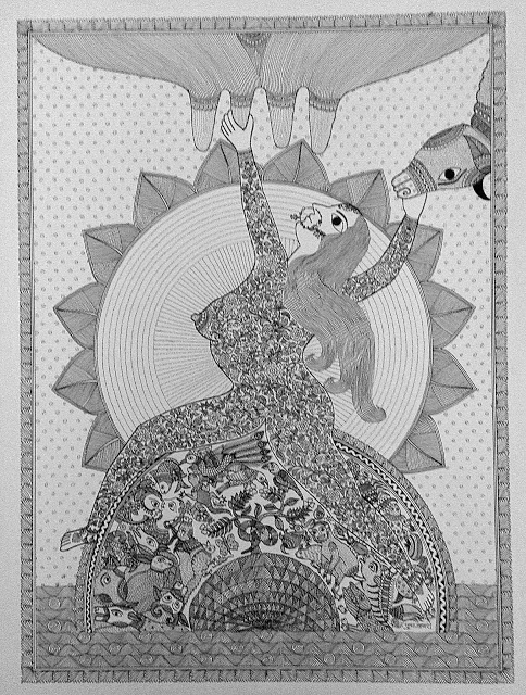 Nature & Nurture in the Art of Pushpa Kumari - Bihar, featured, Feminism, Madhubani, Mithila, Pushpa Kumari