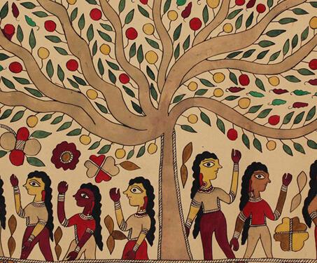 Untitled - Bihar, Madhubani, Mithila art