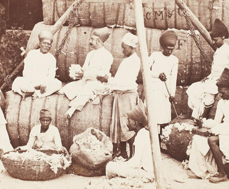 Cotton Merchants, Bombay - 19th Century Photography