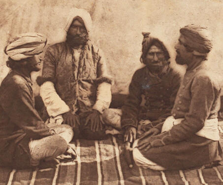 Group of Dogras, Kashmir - 19th Century Photography, Colonial India, Francis Frith, Kashmir