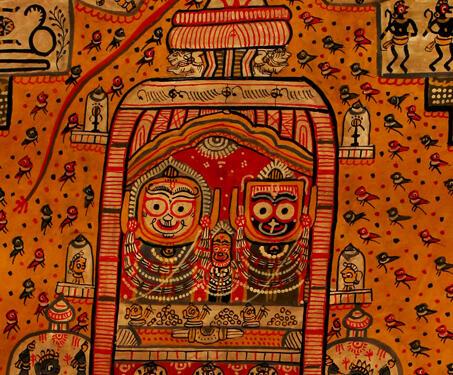 Thiya Bodiya Jatri Boti - Odisha Pattachitra, Pattachitra, Temple, Vishnu
