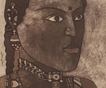 Untitled - etchings, Laxma Goud, Modern Indian Art, Portrait
