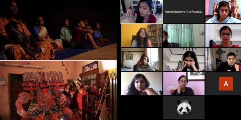 Tholu Bommalaata - Virtual Workshop - Sarmaya @School