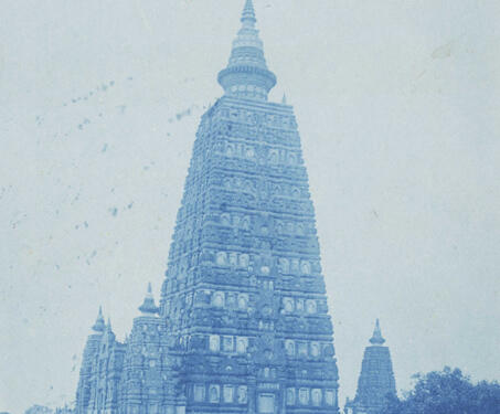 Bodhgaya Temple, Gaya (Mahabodhi Temple) - 19th Century Photography, Bihar, Buddhism, Temples