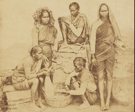 Fisherwomen of Bombay - 19th Century Photography