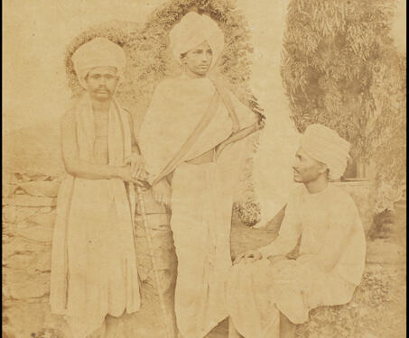 Karnatika Brahmans - 19th Century Photography, Bombay, Colonial India, Ethnographic Photography, Mumbai, William Johnson
