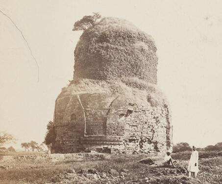 Dhamek Stupa, Sarnath - 19th Century Photography