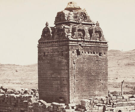 Old Temple from the North West, Gop - Gujarat, James Burgess, Temple Architecture