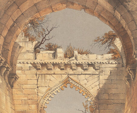 The Delhi Gate, Mandu - 19th century India, Captain Claudius Harris, Lithographs, Madhya Pradhesh, Mandu
