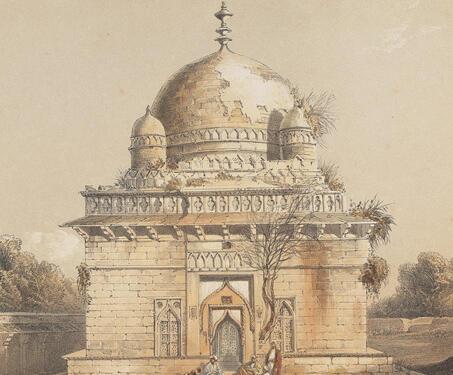 The Marble Mausoleum of the Sultan Hoossain Shah Ghuree - Etchings & Engravings