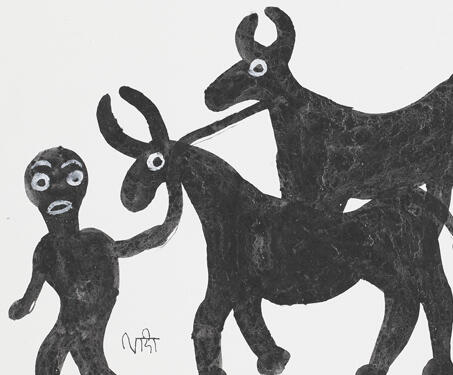 Untitled - Bhil Art, Bhopal, Lado Bai, Madhya Pradesh, Pithora Art