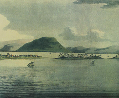 A View of the Town, Fort, and Harbour of Bombay: Taken from Malabar Hill - Etchings & Engravings