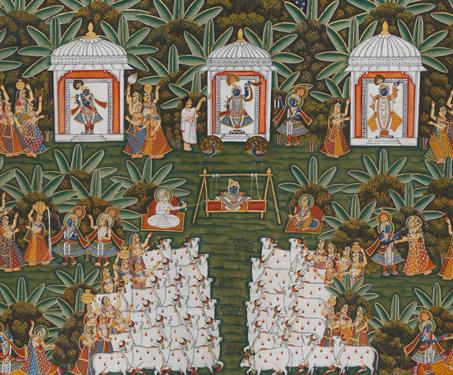 Janmashthmi Pichwai - Indigenous & Tribal Art