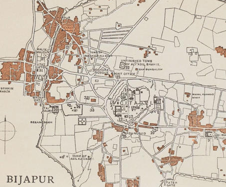 Museum objects - Bijapur Sultanate, Karnataka, Map