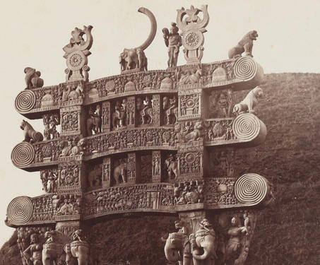 Northern Gate of Sanchi Stupa - 19th Century Photography