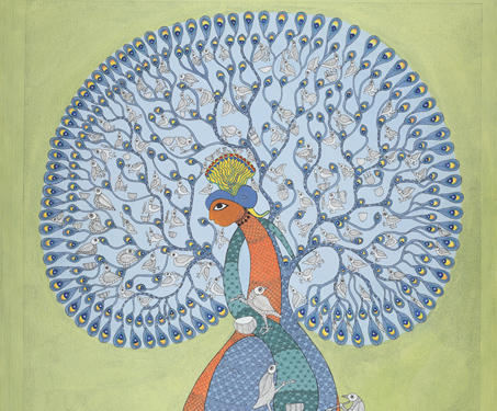Museum objects - Acrylic, Gond Art, Magnificent Beasts, Subhash Vyam