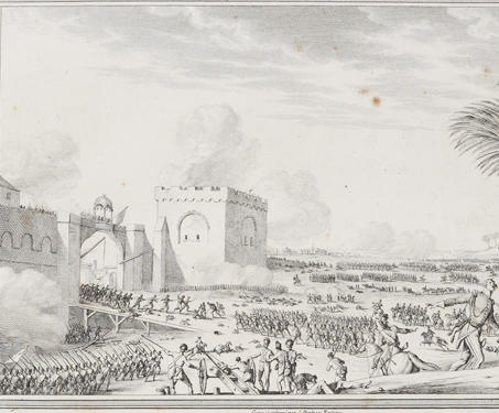 Premier Tableau: Taking of the Fort and City of Seringapatam, 4th may 1799 - Etchings & Engravings