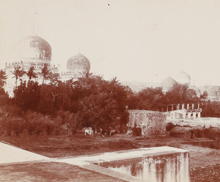 Qutb Shahi Tombs, Hyderabad - 19th Century Photography
