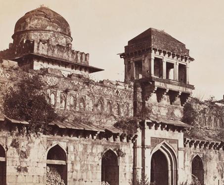 Jahaz Mahal, Mandoo - 19th Century Photography, Fort, Madhya Pradesh, Mandu