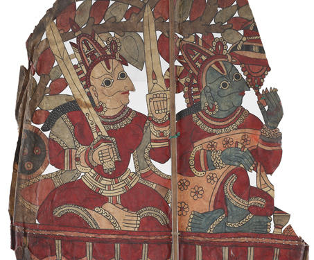 Rama and Lakshmana going to the Jungle - Indigenous & Tribal Art