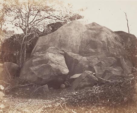 The Asoka Rock, Junagadh - 19th Century Photography