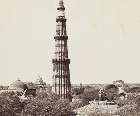 The Qutub Minar, Delhi - Samuel Bourne