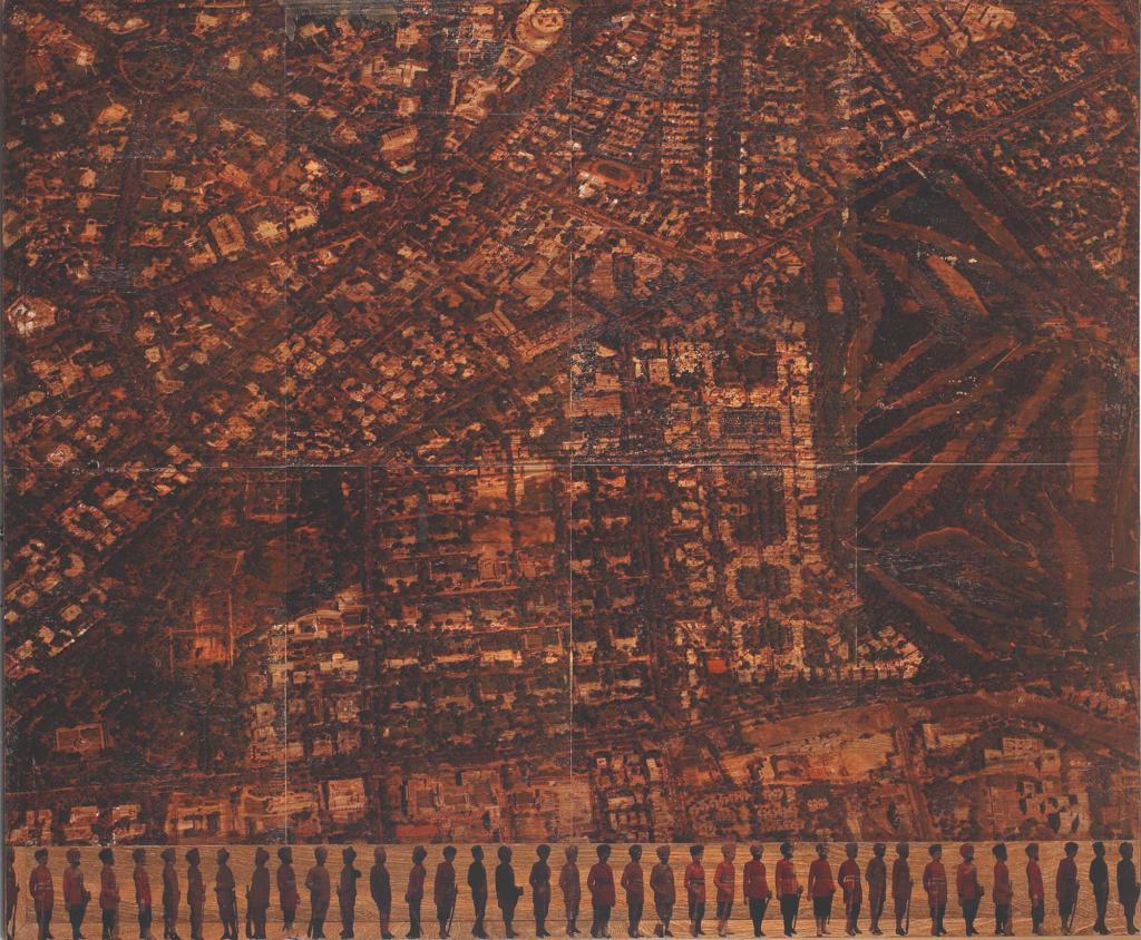 Mapping Mirages: The art of Saju Kunhan - Contemporary Art, Delhi, featured, image transfer, Maps, Saju Kunhan, Shifting Selves