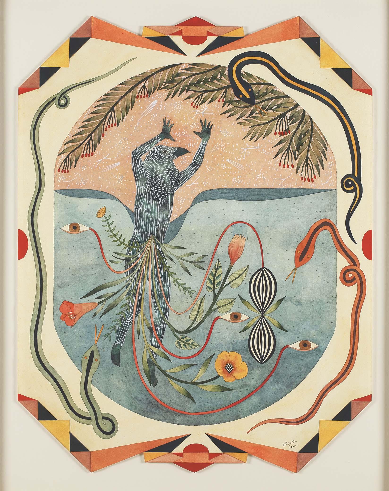 Mining Mythology: The art of Rithika Merchant - Contemporary Art, featured, Gond, Mythology, Rithika Merchant, Shifting Selves