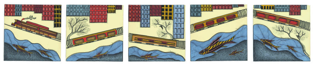 Mayank Shyam and the forest of Gond - Environment, featured, Folk and Indigenous Art, Gond, Gond Art, indigenous and Tribal Art, Mayank Shyam, Shifting Selves